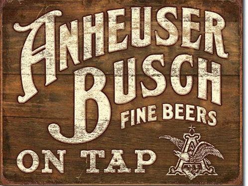 Anheuser-Busch Fine Beers Metal Sign #2164