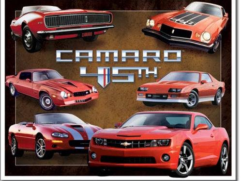 Camaro 45th Anniversary Metal Sign #1782