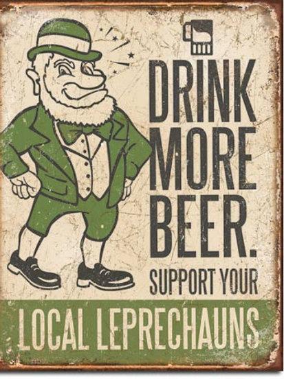 Drink More Beer Metal Sign #1827