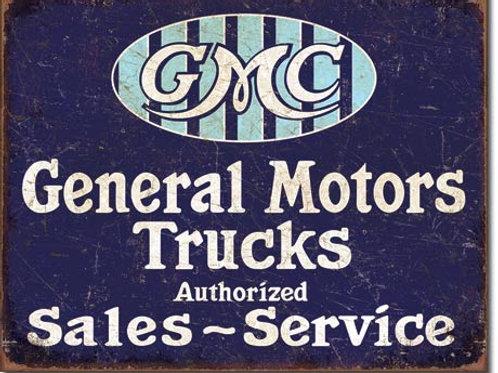GMC Trucks - Authorized Metal Sign #2069