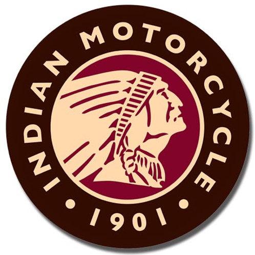 Indian Logo Round Metal Sign #2160