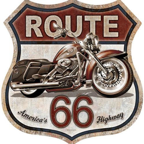 Route 66 Bike Metal Sign #2415
