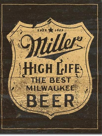 Miller Vintage Shield Metal Sign #2306