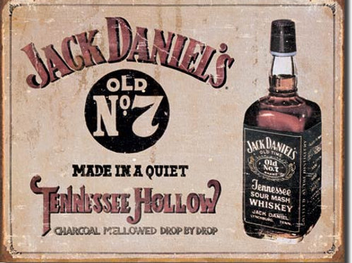 Jack Daniel's Tennessee Hollow Metal Sign #1419