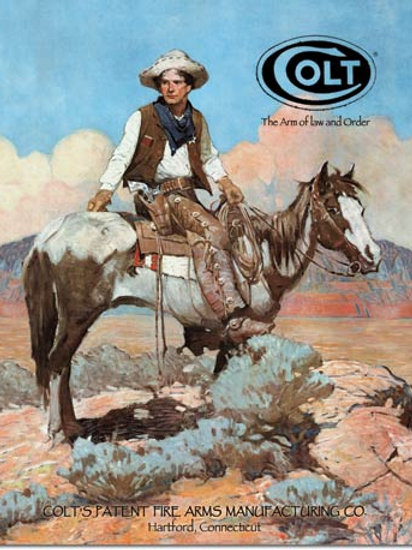 COLT - Tex and Patches Metal Sign #1594