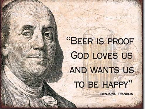 Ben Franklin Beer Metal Sign #2238