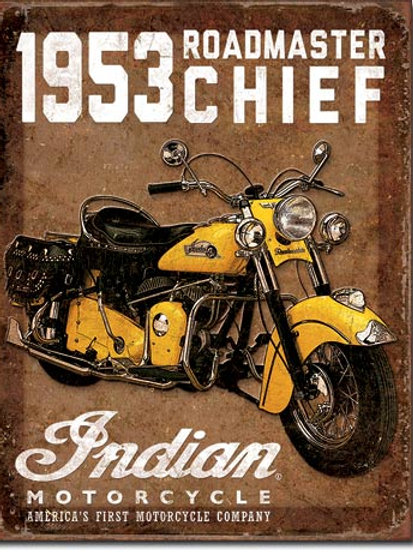 1953 Indian Roadmaster Metal Sign #1932