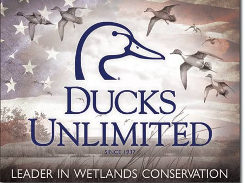 Ducks Unlimited Flag Metal Sign #2307