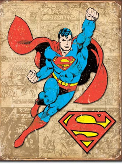 Superman Weathered Panels Metal Sign #1825
