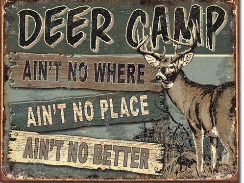 Deer Camp Metal Sign #1983