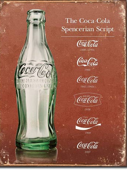 COKE - Script Heritage Metal Sign #1952
