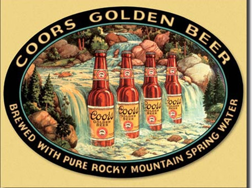 Coors Waterfall Metal Sign #1311