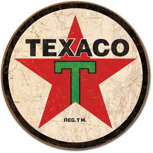 Texaco Round Metal Sign #1798
