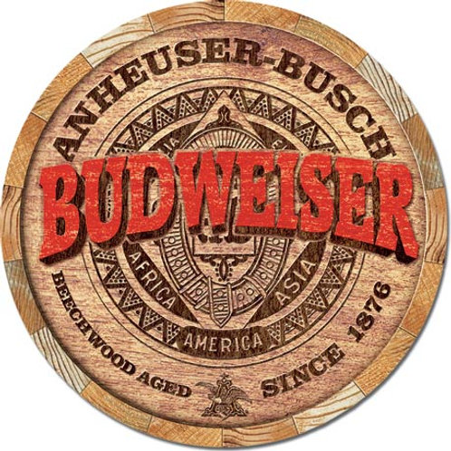 Budweiser Barrel End Metal Sign #2165