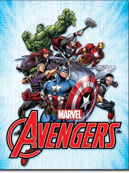Avengers Ensemble Metal Sign #2241
