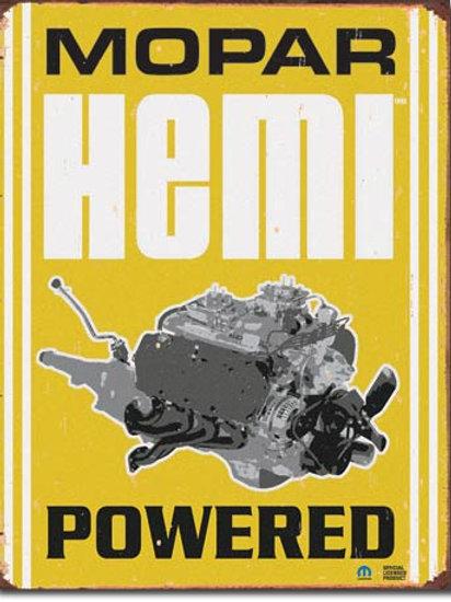 Mopar - Hemi Powered Metal Sign #1420