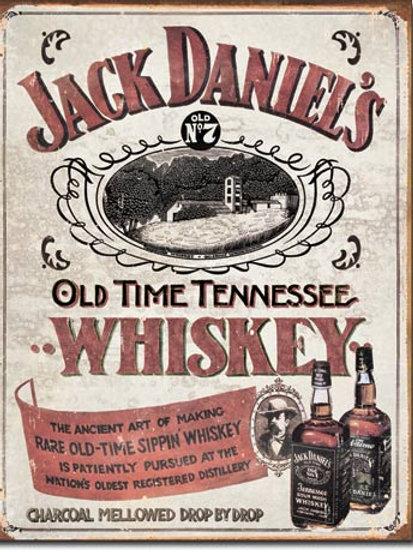 Jack Daniel' Sippin' Whiskey Metal Sign #1665