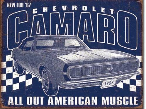Camaro - 1967 Muscle Metal Sign #2135