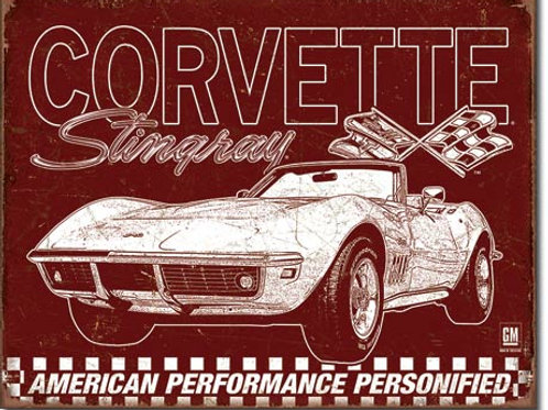 Corvette - 69 Stingray Metal Sign #2138