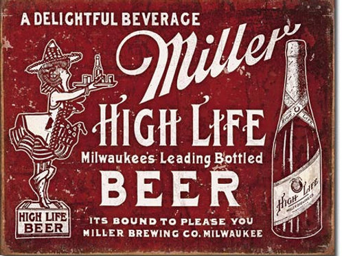 Miller Bound to Please Metal Sign #2075