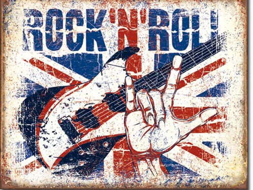 Rock 'n Roll Metal Sign #2194