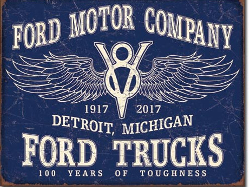 Ford Trucks - 100 Years Metal Sign #2245