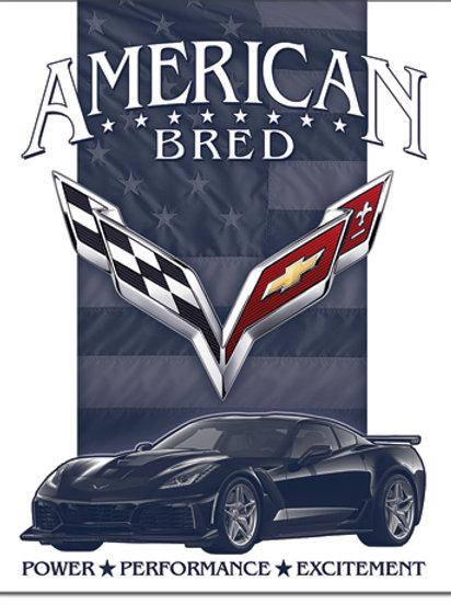 Corvette - American Bred Metal Sign #2369