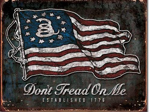 Don't Tread On Me Vintage Flag Metal Sign #1873