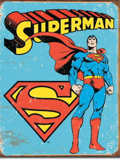 Superman Retro Metal Sign #1335