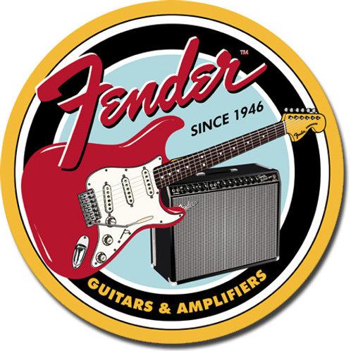 Fender Guitars & Amplifiers Metal Sign #1858