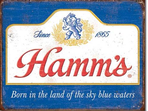 Hamm's Sky Blue Waters Metal Sign #2078