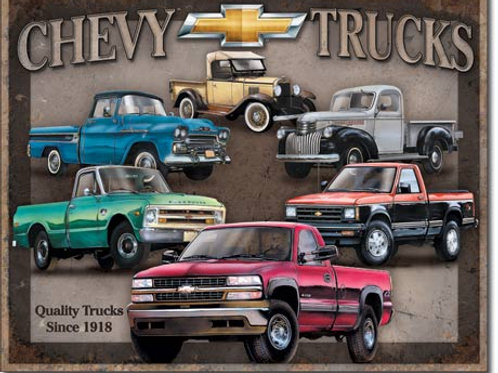 Chevy Truck Tribute Metal Sign #1747