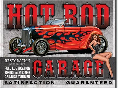 Hot Rod Garage Metal Sign #1626
