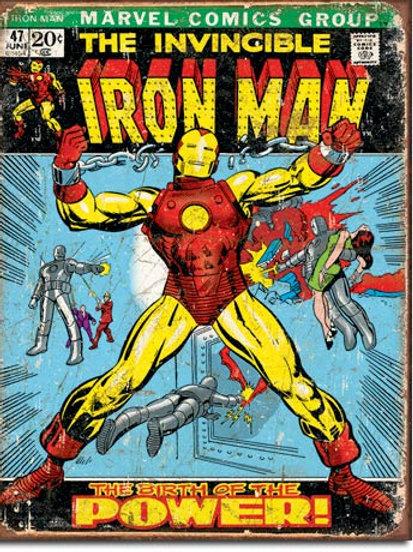 Iron Man Comic Cover Metal Sign #1969