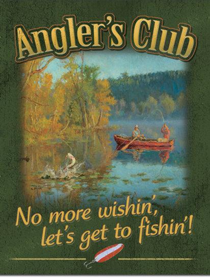 Angler's Club Metal Sign #2324