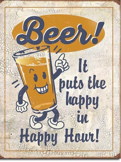 Beer Happy Hour Metal Sign #2259