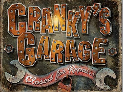 Cranky's Garage Metal Sign #2379