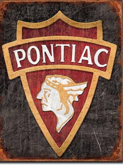 1930 Pontiac Logo Metal Sign #1940