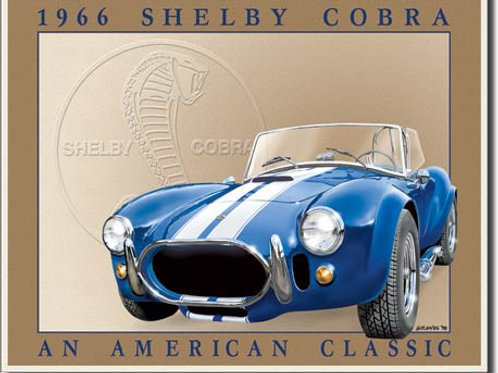 Shelby Cobra Metal Sign #801