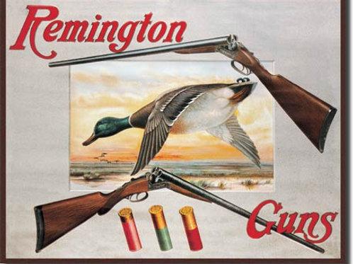Remington Shotguns and Duck Metal Sign #1002