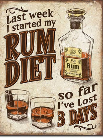 Rum Diet Metal Sign #2217