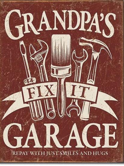 Grandpa's Garage Metal Sign #2264