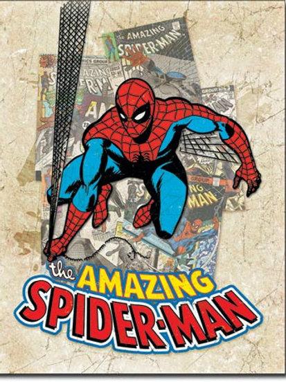 Spiderman Cover Splash Metal Sign #2210