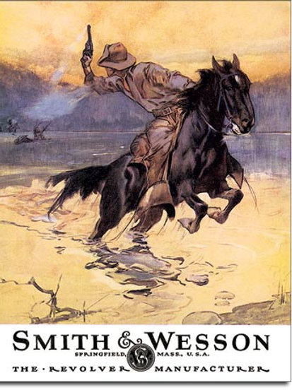 Smith & Wesson Hostiles Metal Sign #1876