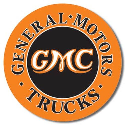GMC Trucks Round Metal Sign #1012