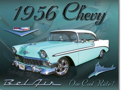Chevy 1956 Bel Air Metal Sign #1607