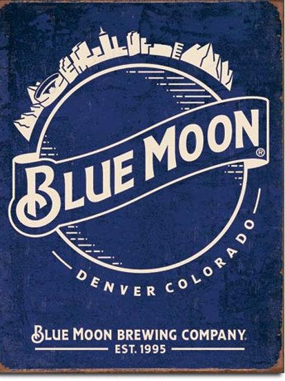 Blue Moon Skyline Logo Metal Sign #2140