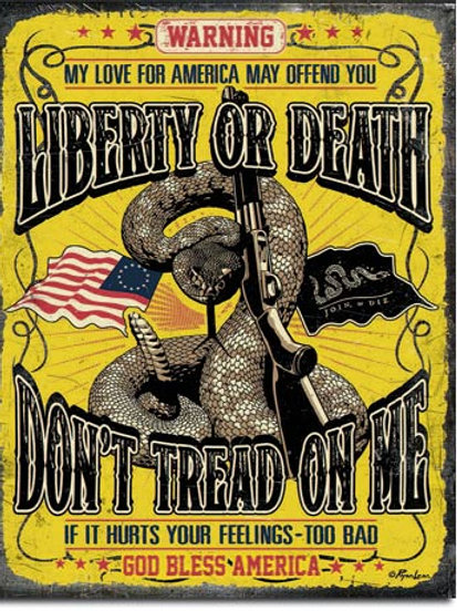 Don't Tread On Me Warning Metal Sign #2234
