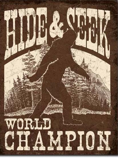 Big Foot - Hide & Seek Metal Sign #2290