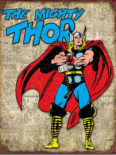 Thor Retro Cover Panels Metal Sign #1889